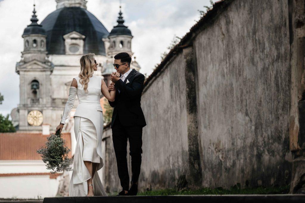 Vestuvių fotografija Pažaislio vienuolyne