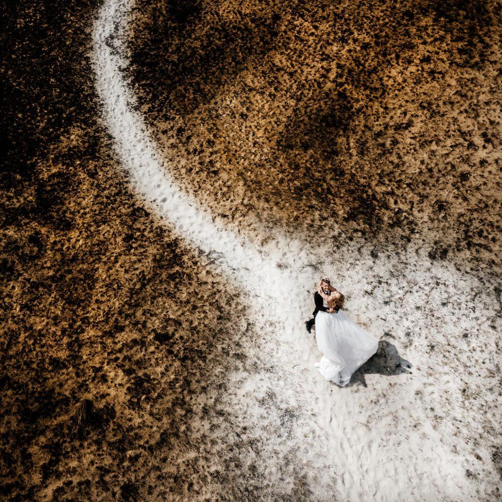 Vestuvės su dronu